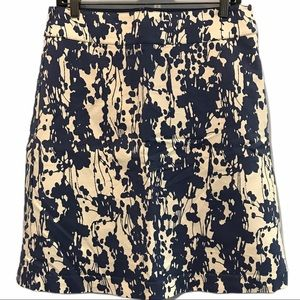 Mexx Blue & white lined cotton skirt size 14